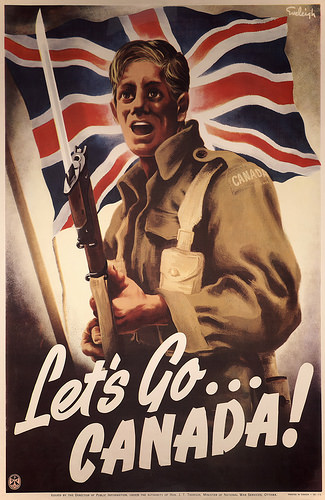Lets Go Canada War Poster